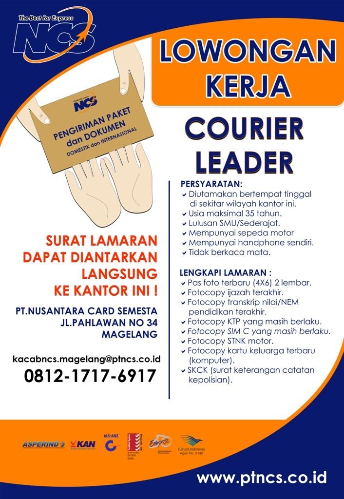 LOKER KURIR LEADER MAGELANG - 100cm X 145cm
