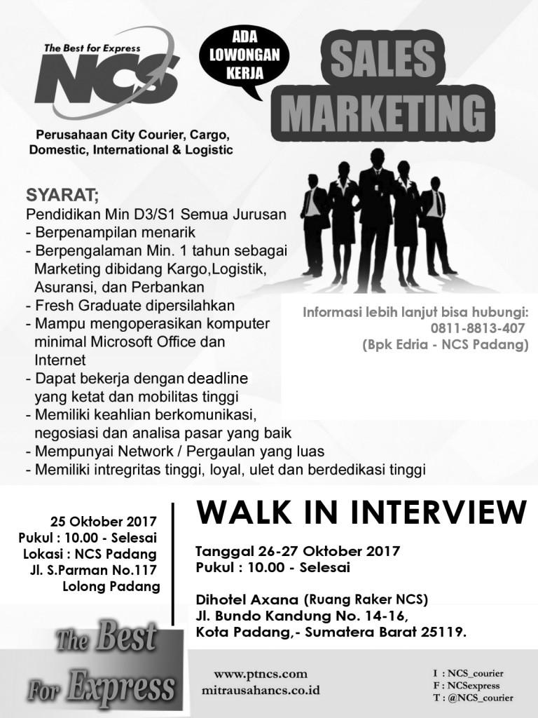 Lowongan- Sales-Marketing-ncs Padang Hitam Putih